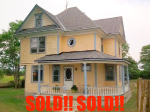 SOLD!! Century farmhouse on 100 Acres with a fabulous Barn SOLD!!